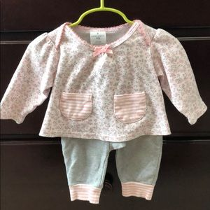 Laura Ashley baby floral long sleeve set